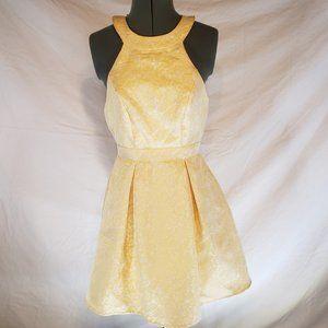 "Disney B&B ""Belle"" Pleated Halter Dress S"